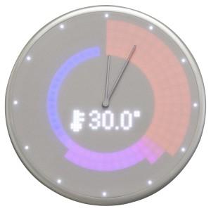 Glance Clock silver