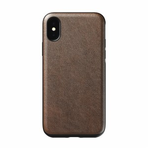 Nomad Case Leather Rugged Rustic Brown iPhone X / Xs