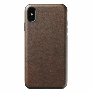 Nomad Case Leather Rugged Rustic Brown iPhone Xs Max