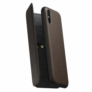 Nomad Rugged Tri-Folio Rustic Brown iPhone X / Xs