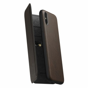 Nomad Rugged Tri-Folio Rustic Brown iPhone Xs Max