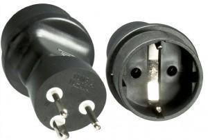 Stromadapter Dänemark Stecker auf Schutzkontakt   (1 Stück)