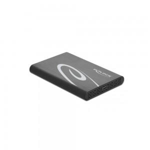 "Delock USB-C, SATA int. Gehäuse 8,9cm(2,5"") Alu"