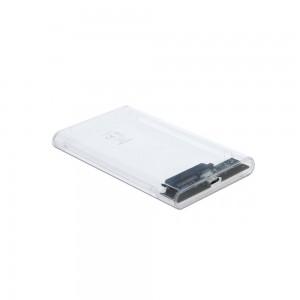 "Delock USB-C transparentes Gehäuse für 2,5"" SATA SSD/HDD"