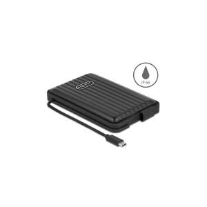 Delock Externes IP66 Gehäuse für 2.5″ SATA HDD/SSD mit USB-C