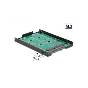 "Delock 2.5"" SATA RAID Gehäuse für 2x M.2 SSD"