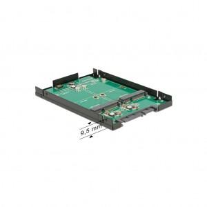 "Delock 2.5"" SATA RAID Gehäuse für 2x mSATA SSD"