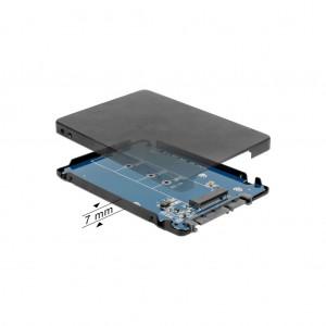 """Delock 2,5"""" SATA Gehäuse für M.2 NVMe PCIe SS"""