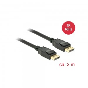 Delock Kabel DisplayPort 1.2 Stecker > DisplayPort Stecker 4K, 2,0m