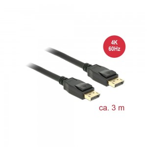 Delock Kabel DisplayPort 1.2 Stecker > DisplayPort Stecker 4K, 3,0m
