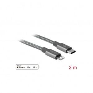 Delock USB-C zu Lightning für iPhone, iPad und iPod 2 m, Daten- und Ladekabel