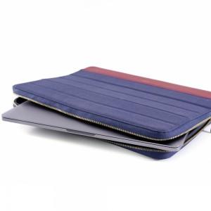 KMP Protective Sleeve MacBook blau rot