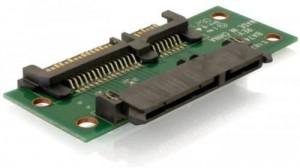 DELOCK Adapter Verlaengerung SATA 22pin Stecker/Buchse