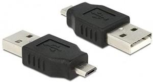 Delock Adapter USB 2.0 Typ Micro-B Stecker > USB 2.0 Typ-A Stecker