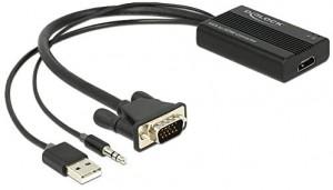 Delock VGA zu HDMI Adapter mit Audio