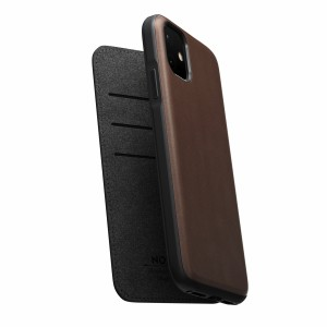 Nomad Folio Leather Rugged Rustic Brown iPhone 11