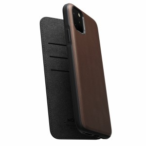 Nomad Folio Leather Rugged Rustic Brown iPhone 11 Pro Max