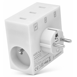usbepower HIDE 5-in-1 wall charger white
