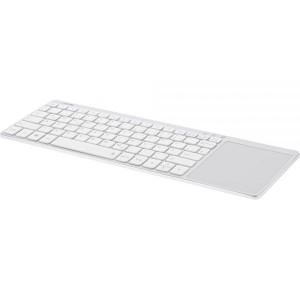 InLine® Wireless Aluminium Slim-Tastatur mit Touchpad, 2,4GHz, silber/weiß