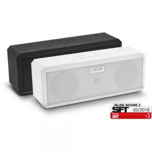 InLine® WOOME 2 - True Wireless Stereo Bluetooth Lautsprecher, Doppelpack weiß + schwarz