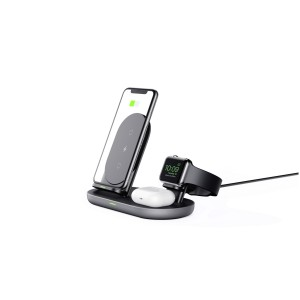 AUKEY 3in1 Charging Station Aircore Wireless Qi/QC blk LCA3
