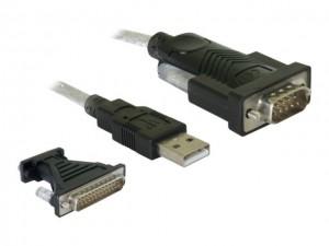 Delock Adapter USB 2.0 Typ-A > 1 x Seriell DB9 RS-232 + Adapter DB25