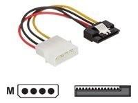 Delock Kabel Power SATA HDD > Molex 4 Pin Stecker mit Metall Clip - gerade