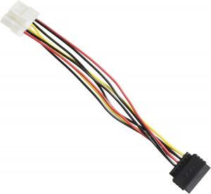 Delock Kabel Power SATA 15pin > 2x 4pin Molex Buchse 20cm