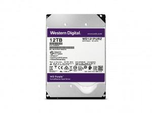 WD Purple 12TB SATA 6Gb/s CE HDD 8,9cm 3,5Zoll internal 7200Rpm 256MB Cache 24x7 Bulk