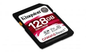 KINGSTON 128GB SD Karte Canvas React 4K