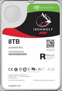 "SEAGATE IronWolf PRO NAS 8TB 3.5"" HDD"