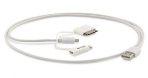 LMP 3-in-1 USB Kabel zu Lightning/ 30-Pin/ Micro-USB 1m