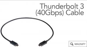 SONNET Thunderbolt 3 Kabel, 2m, schwarz