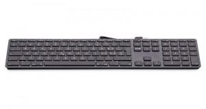 LMP kabelgebundene USB Tastatur space grau, CZ