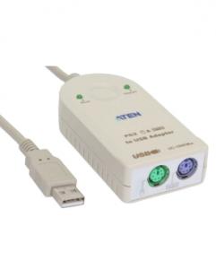 ATEN UC100KMA Konverter USB zu PS/2, USB Stecker A an 2x PS/2 Buchse