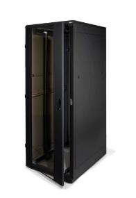 "19""-Netzwerkschrank 37HE, Triton RMA-37-A66-BAX-A1, 600x600mm, Frontglastür, tiefschwarz"