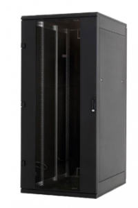 "19""-Netzwerkschrank 18HE, Triton RMA-18-A89-BAX-A1, 800x900, Frontglastür, tiefschwarz"