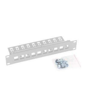 """10"""" Patchpanel, Triton RAC-PP-X03-C1, Leerblech für max. 10 Keystone-Module, grau"""