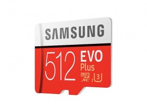 SAMSUNG 512GB EVO Plus microSD Karte (SD Adapter)