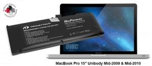 """NuPower 78 Wh Batterie MacBook Pro 15"""" (hergestellt 2009-201"""