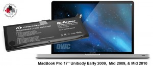 """NuPower 103 Wh Batterie für MacBook Pro 17"""" (hergestellt 200"""