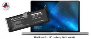 """NuPower 95 Wh Batterie für MacBook Pro 17"""" (hergestellt 2011"""
