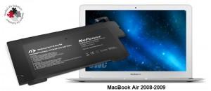NuPower 37 Wh Batterie für MacBook Air (hergestellt 2008-200