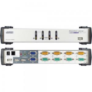 ATEN CS1744 KVM-Switch 4-fach, USB+Audio, Dual View