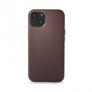 Decoded Leather Backcover iPhone 13 Brown