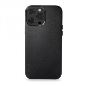Decoded Leather Backcover iPhone 13 Pro Black