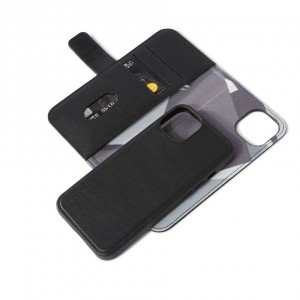Decoded Leather Detachable Wallet iPhone 13 Black