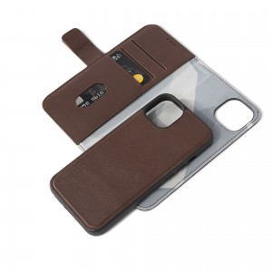 Decoded Leather Detachable Wallet iPhone 13 Brown