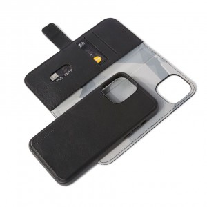 Decoded Leather Detachable Wallet iPhone 13 Pro Max Black