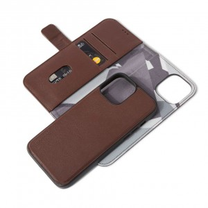 Decoded Leather Detachable Wallet iPhone 13 Pro Max Brown